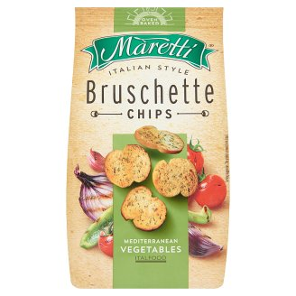 Maretti Bruschette Baked Bread Circles with Mediterranean Vegetables Flavour 70 g