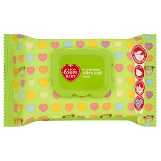Tesco Loves Baby rendkívül puha, illatosított törlőkendő 64 db