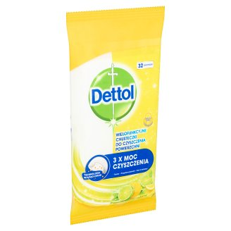 Dettol Power & Fresh Lemon & Lime Universal Cleansing Surface Wipes 32 pcs