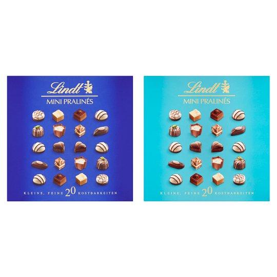 Lindt töltött csokibonbon kollekció tejcsokoládéból és keserű csokoládéból 20 db 100 g
