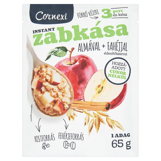 Cornexi Apple-Cinnamon Porridge No Added Sugar 65 g
