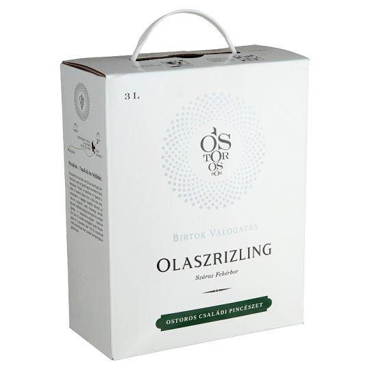 Ostorosbor Bag-In-Box Egri Olaszrizling száraz fehérbor 13,5% 3 l