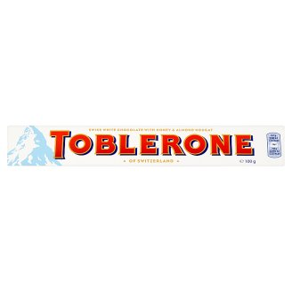 Toblerone Swiss White Chocolate with Honey & Almond Nougat 100 g