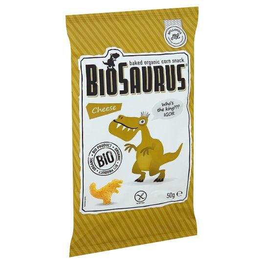 Biopont Biosaurus Baked Organic Corn Snack with Cheese Seasoning 50 g