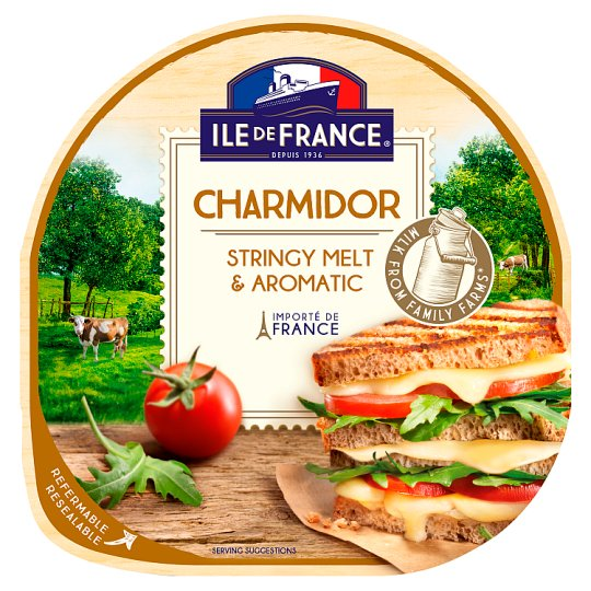 Ile de France Charmidor Sliced Fat Semi-Hard Cheese 100 g
