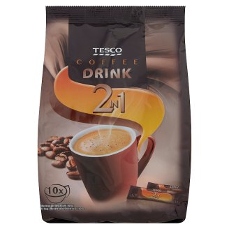 Tesco 2 in 1 Coffee Drink with Creamer and Coffee Extract 10 x 14 g