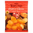 Tesco Ham & Cheese Wavy Chips 130 g