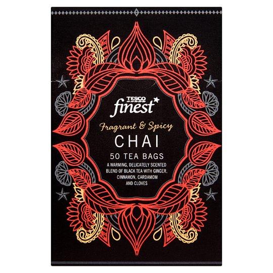 Tesco Finest fekete tea fűszerekkel 50 filter 125 g