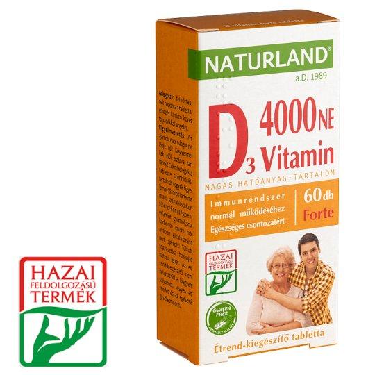 Naturland Vitalstar Vitamin D 4000 NE Forte Dietary Supplement Capsules 60 pcs 11,01 g