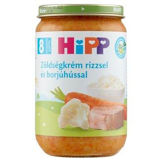 HiPP BIO glutén- és tejszármazékmentes zöldségkrém rizzsel és borjúhússal 8 hónapos kortól 220 g