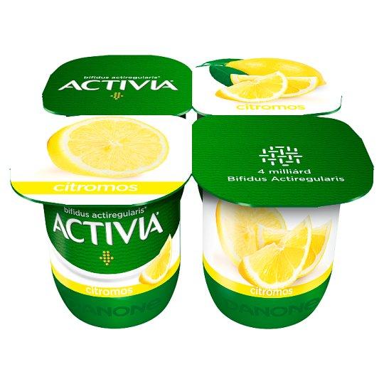 Danone Activia Lemon Yoghurt with Live Cultures 4 x 125 g
