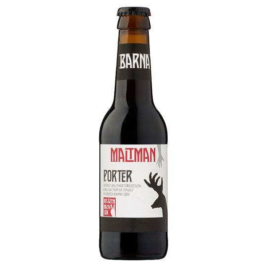 Maltman Porter szűretlen minőségi barna sör 5,2% 0,25 l