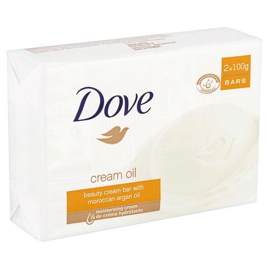 Dove Cream Oil Beauty Cream Bar 2 x 100 g
