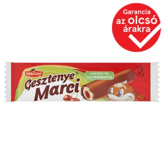 Maroni Gesztenye Marci Lactose- and Gluten-Free Chestnut Bars with Sour Cherry Jam Filling 30 g