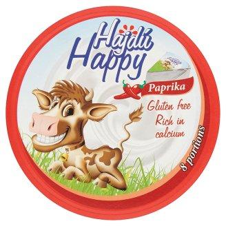 Hajdú Happy csípőspaprikás zsíros, kenhető, ömlesztett sajt 8 db 140 g
