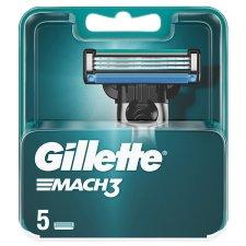 Gillette Mach3 Men's Razor Blades, 5 Refills