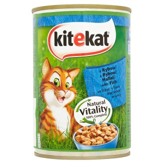 Kitekat Complete Pet Food for Adult Cats with Fish 400 g