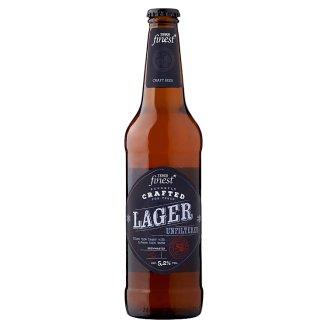 Tesco Finest Lager szűretlen világos sör 5,2% 500 ml