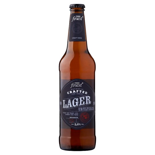 Tesco Finest Unfiltered Lager Beer 5,2% 500 ml