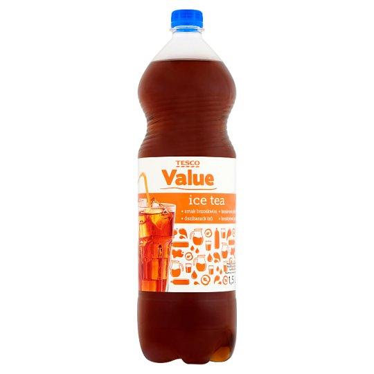 Tesco Value Ice Tea őszibarack ízű üdítőital édesítőszerekkel 1,5 l