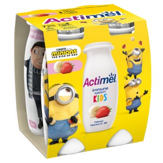 Danone Actimel Kids Low-Fat Strawberry-Banana Yogurt Drink with Live Culture 4 x 100 g