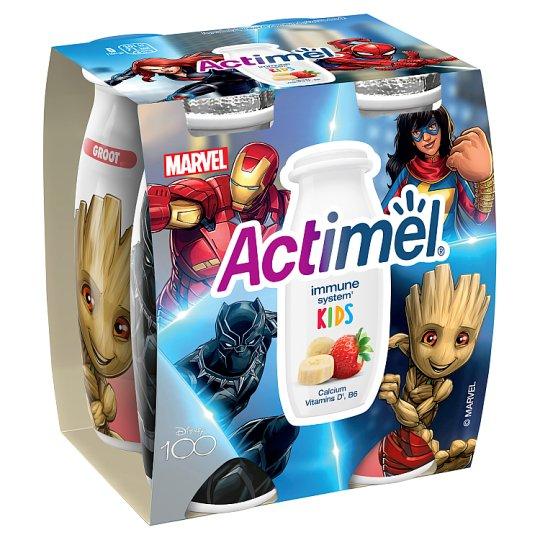 Danone Actimel Kids zsírszegény, élőflórás, eper-banánízű joghurtital 4 x 100 g
