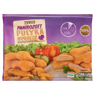 Tesco Quick-Frozen, Ready-Fried, Breaded Turkey Nuggets 500 g