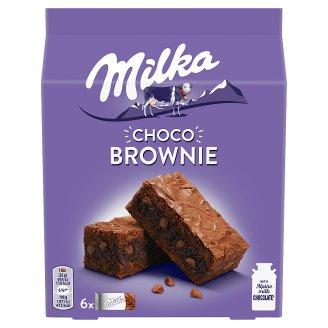 Milka sütemény csokoládéval, alpesi tejcsokoládéval és tejcsokoládé darabokkal 6 db 150 g