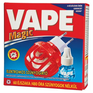 Vape Magic Electric Device for Liquid and Mat Refills + Liquid Refill 480 h