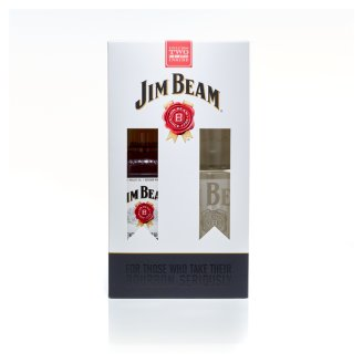 Jim Beam Bourbon whiskey + 2 pohár 40% 0,7 l