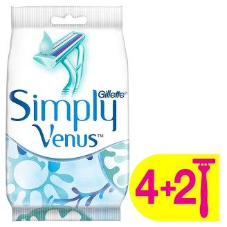 Gillette Simply Venus 2 Eldobható Női Borotva, 4+2 db