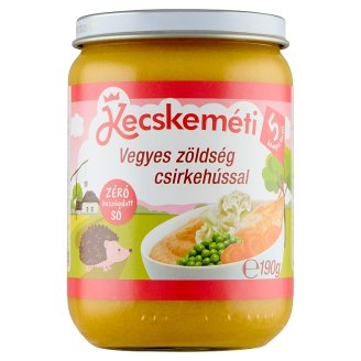 Kecskeméti Gluten- and Dairy-Free Mixed Vegetables with Chicken Baby Food 5+ Months 190 g