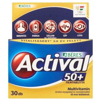Béres Actival 50+ filmtabletta 30 db 37,5 g