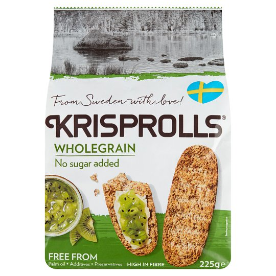 Krisprolls Wholegrain No Sugar Added Swedish Toasts 225 g