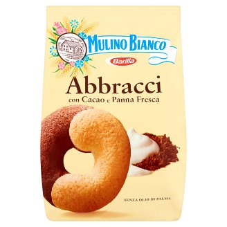 Mulino Bianco Abbracci tejszínes-kakaós édes omlós keksz 350 g