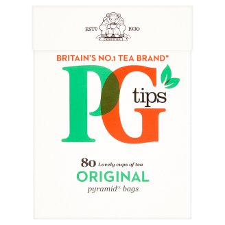 PG Tips Black Tea 80 Tea Bags 232 g