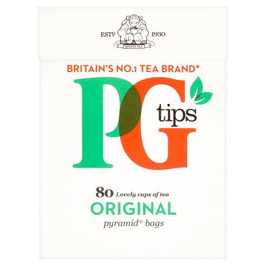 PG Tips Black Tea 80 Tea Bags 232 g