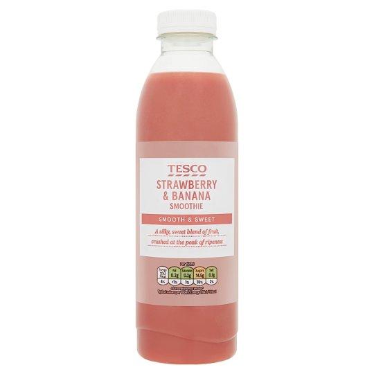 Tesco Strawberry and Banana Smoothie 750 ml