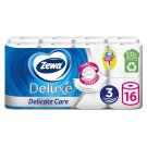 Zewa Deluxe Delicate Care Toilet Paper 3 Ply 16 Rolls