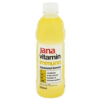Jana Vitamin Immuno Non-Carbonated Lemon Flavoured Drink with Sugar and Sweetener 500 ml