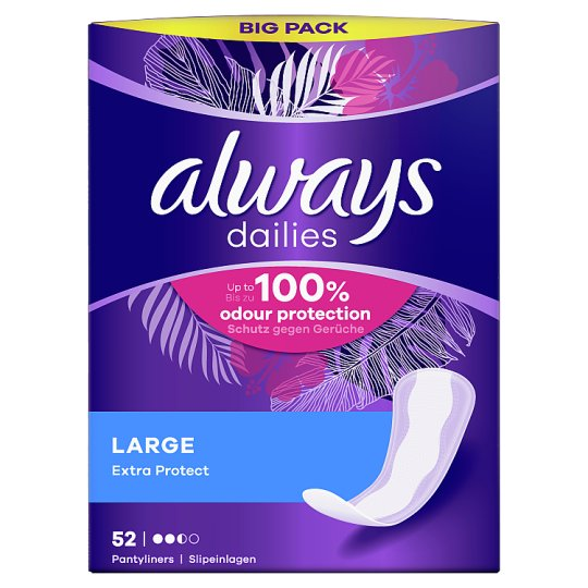 Always Dailies Extra Protect Panty Liners Large x 52