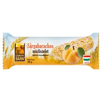 Country Barn Apricot Flavoured Muesli Bar with Yoghurt Base 30 g