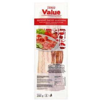 Tesco Value Sliced Bacon 200 g