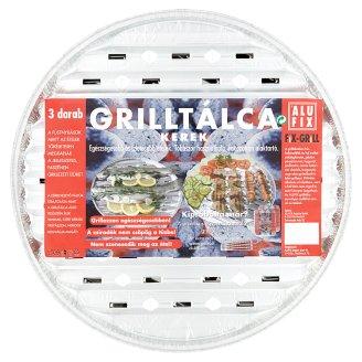 Alufix Fix-Grill Round Grill Tray 3 pcs