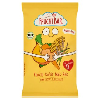 FruchtBar Organic Crunchy Corn Snack with Carrot, Pumpkin and Rice +12 Months 30 g