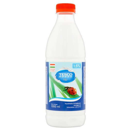 Tesco Low Fat Milk 1,5% 1000 ml