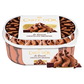 Carte D'Or Gelateria Chocolate Brownie Chocolate Ice Cream with Brownie Pieces 900 ml
