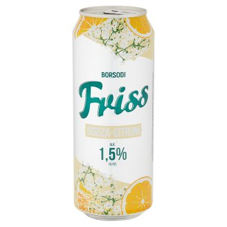 Borsodi Friss Elderflower and Lemon Flavoured Lager Beer 1,5% 0,5 l