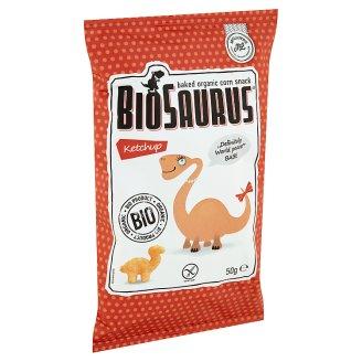 BioSaurus BIO ketchupos ízesítésű extrudált kukoricás snack 50 g