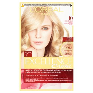 L'Oréal Paris Excellence Creme 10 Lightest Blonde Permanent Hair Colorant
